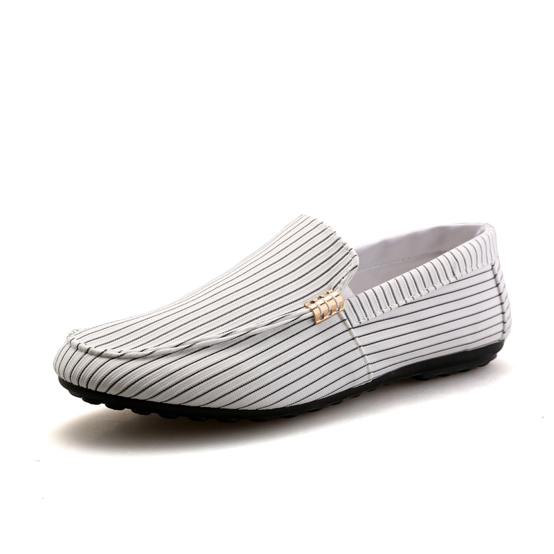 Cheap Driving Shoes Loafers White Spring Canvas Casual Casing