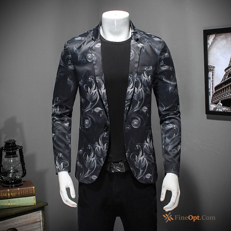Cheap Fashion Spring Autumn Suit Youth New Flower Blazer