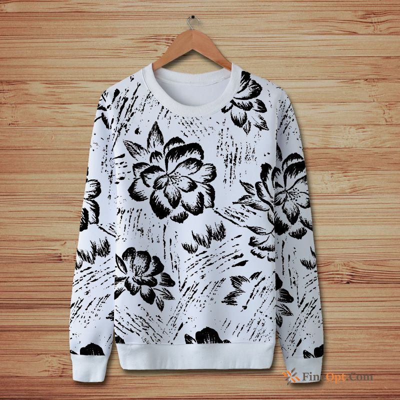 Cheap Flower Design Pattern Teens Printing Fresh Autumn Hoodies