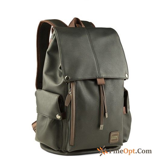 Cheap Genuine Leather School Bag Men Student Men's Tourism Bags Beige Backpack