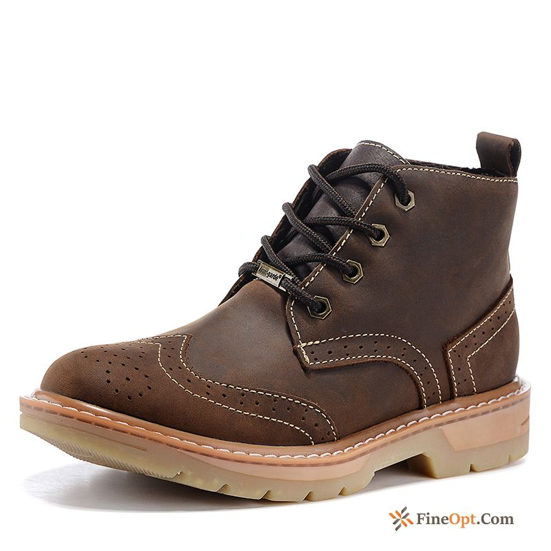 Cheap Genuine Leather Short Boots Martin Boots British Boots Desert Men's