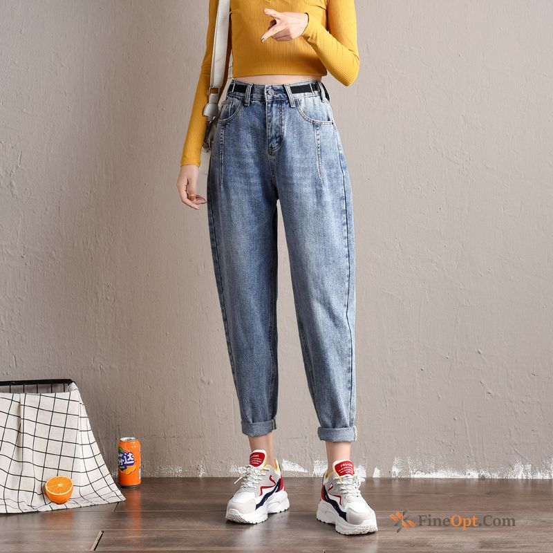 Cheap Harlan Loose Girl Autumn High Waist Pants Straight Jeans
