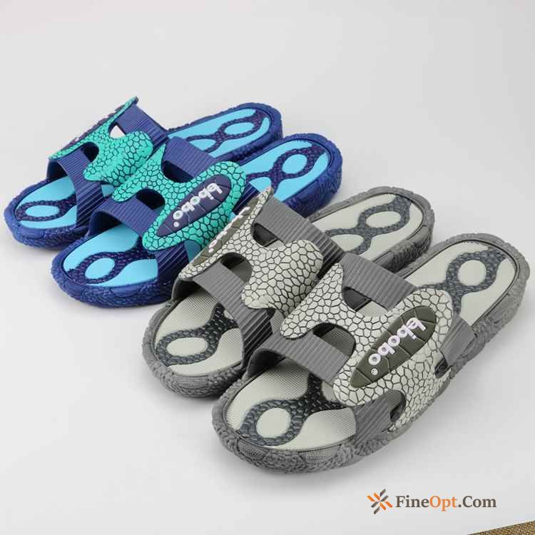 Cheap Home Summer Big Size Indoor Blue Anti-skid Slippers Slippers