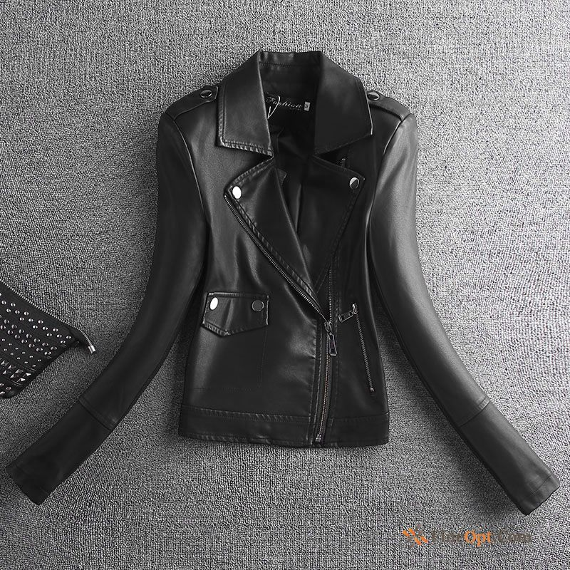 Cheap Jacket Pu Black Slim Leather Short Motorcycle Leather Jacket