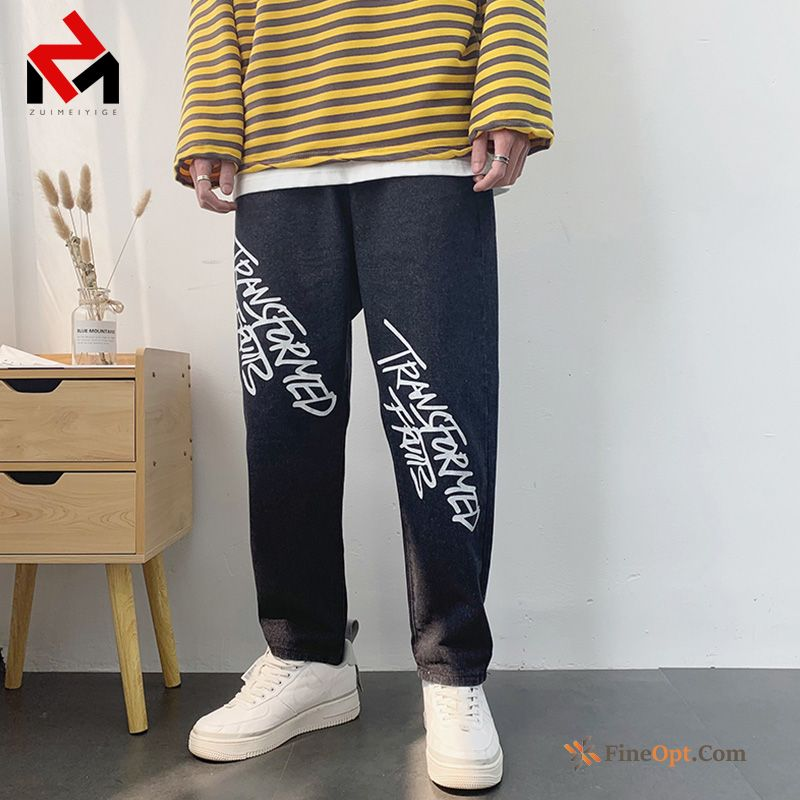 Cheap Jeans Loose Men's Trend Brand Cargo Summer Pants