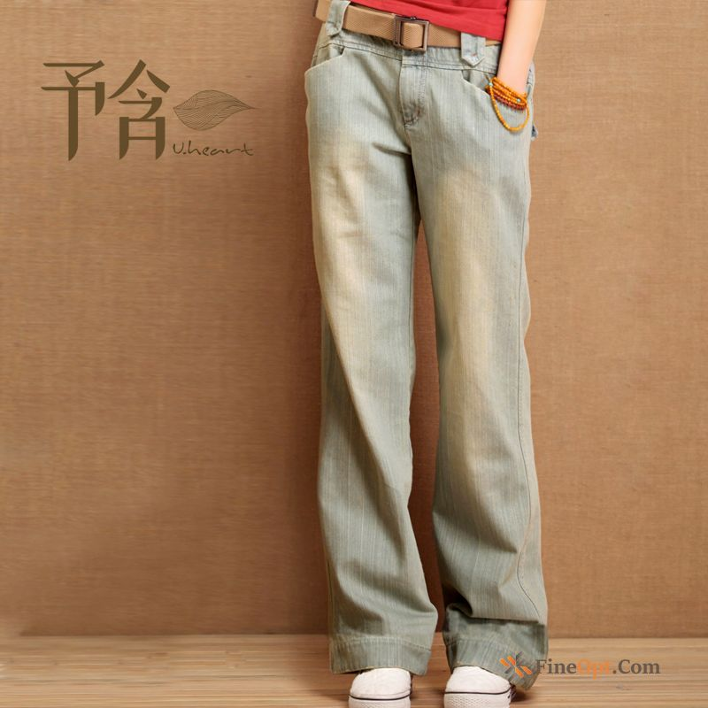 Cheap Large Size Light Thin Loose Straight Trousers Jeans Grape