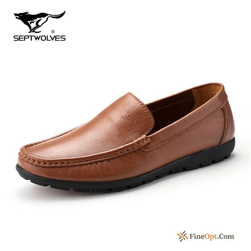Cheap Leather Summer Causal Shoes Soft Sole Breathable Spring Loafers