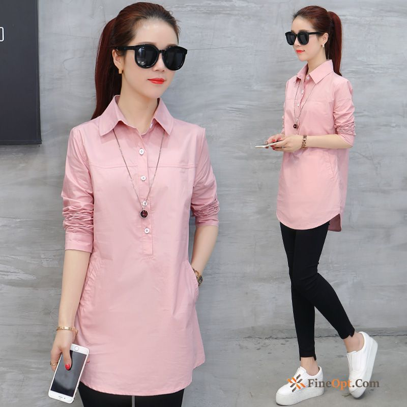 Cheap Long Sleeves Blouse Leisure New Long All-match Pure Blouse