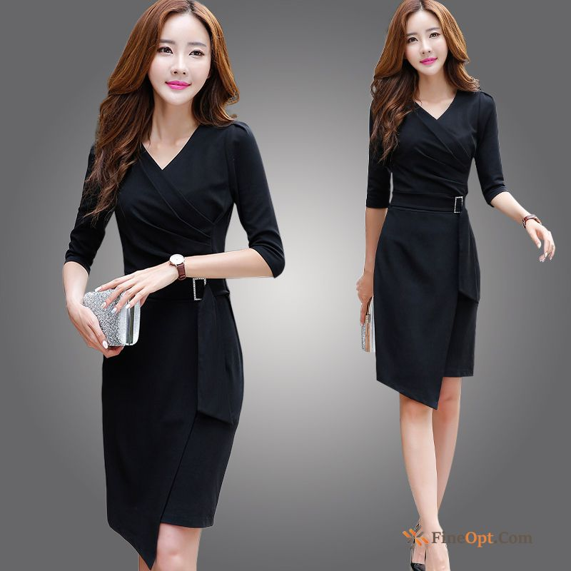 Cheap Long Thin Coverall Temperament Professional Sleeve Spring Dress