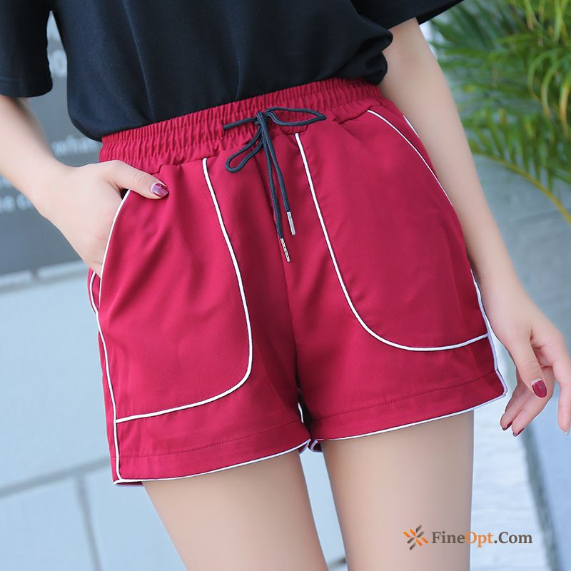 Cheap Loose Running High Waist Hot Pants Short Pants Europe Red Springgreen Shorts
