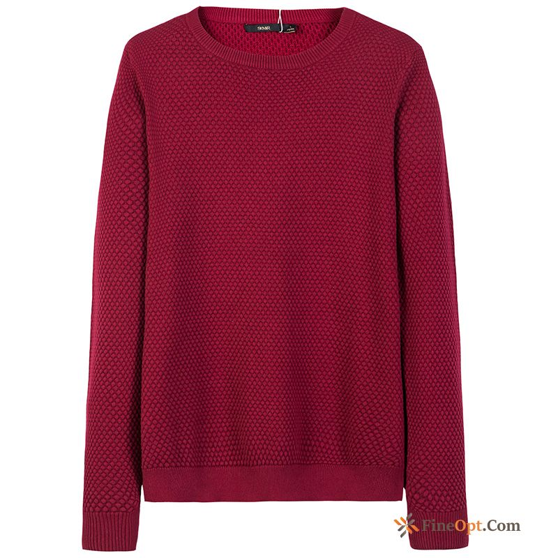 Cheap Men's Europe Youth Knitwear Sweater Pullovers Pure Winter Sweater