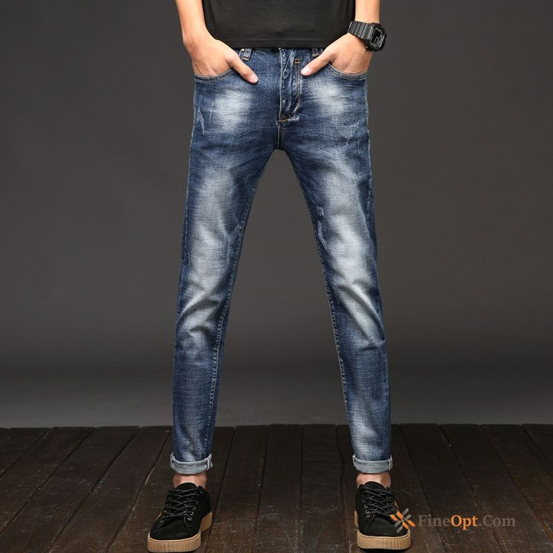 Cheap Men's Skinny Summer Spring Retro Jeans Trousers