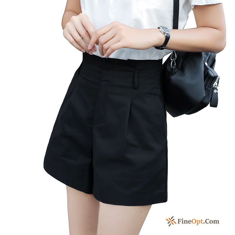 Cheap New All-match Short Pants High Waist Leisure A Letter Black Shorts