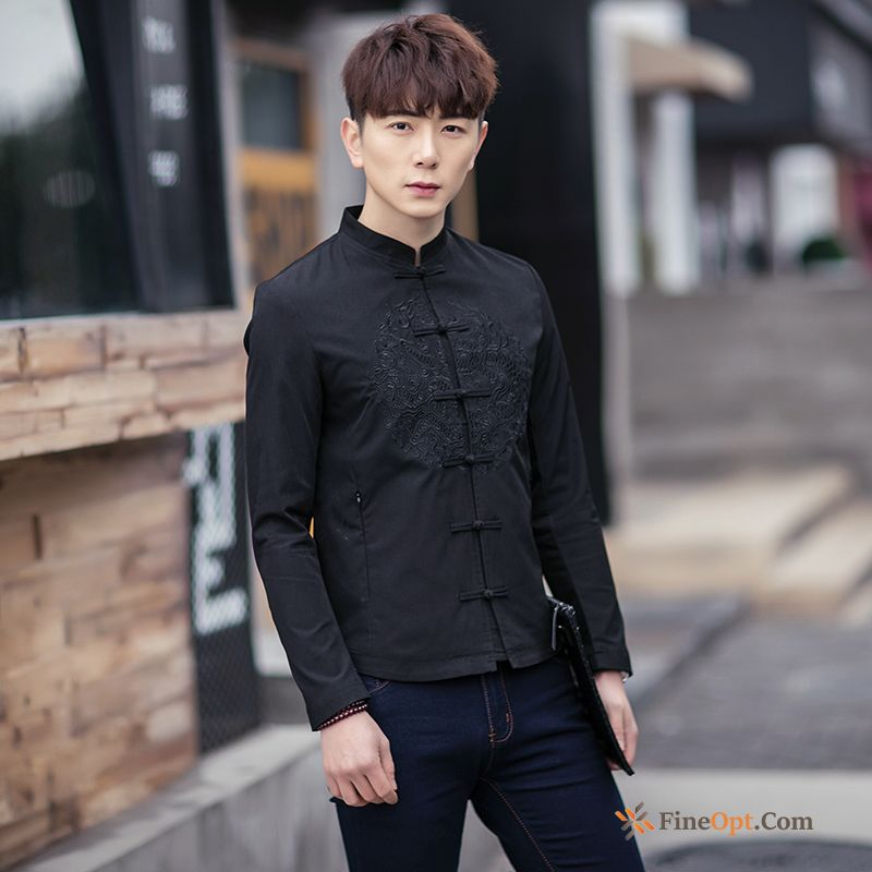 Cheap New Men's Trend Embroidery Chinese Style Autumn Spring Jacket