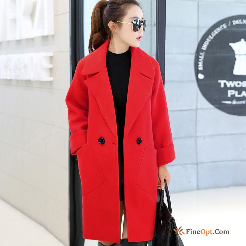 Cheap Overcoat Large Size Thin Thickening Autumn Loose Woolen Coat