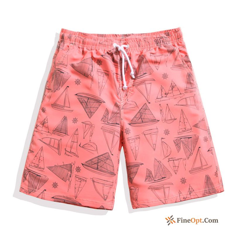 Cheap Pants Beach Short Pants Men's Lovers Loose Quick Dry Shorts