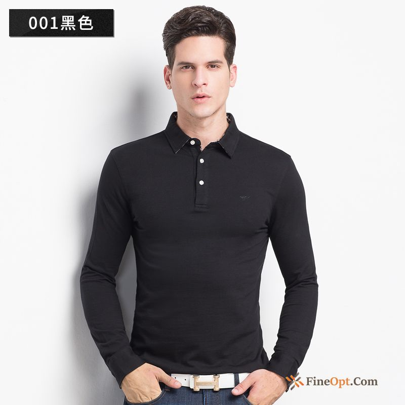 Cheap Polo Pure T-shirt Bottoming Shirt Youth Spring New Bisque T-shirts