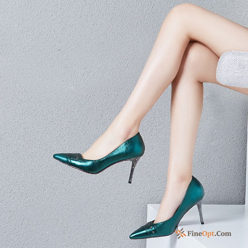 Cheap Pumps Genuine Leather All-match Work Fashion New High Heels