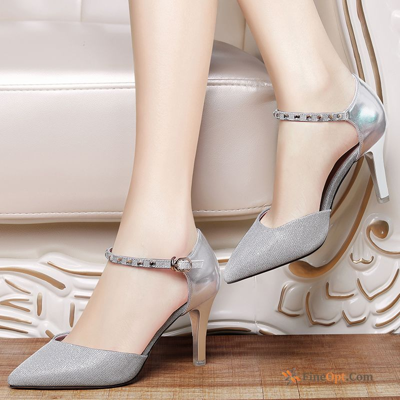 Cheap Pumps New Thin Heels Pointed Toe Spring Casual High Heels