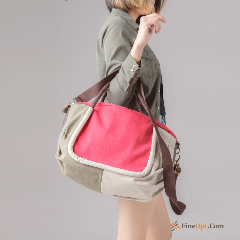 Cheap Red Handbag Fashion Trend Shoulder Bags Women Messenger Bag Chocolate Travel Bag
