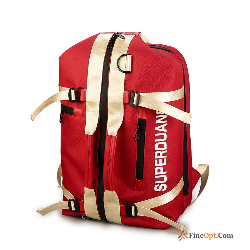 Cheap Red Outdoor Backpack Fashion Sport Luggage High Capacity Travel Bag