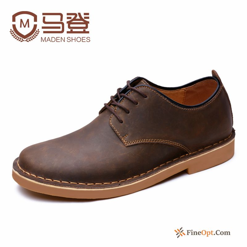 Cheap Retro Autumn Spring Trend Genuine Leather Leather Shoes Men's