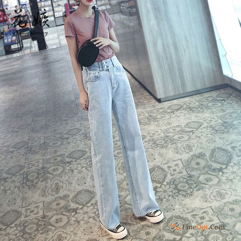 Cheap Skinny High Waist Trousers Loose Denim Pants Europe Jeans