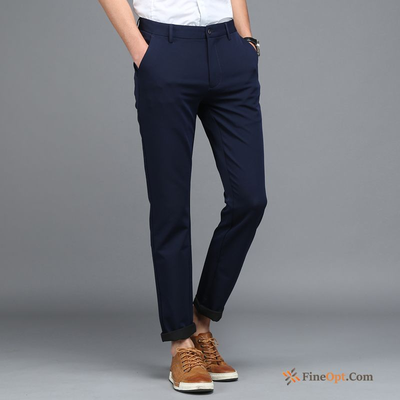 Cheap Skinny Leisure Trousers Men's Spring Europe Elasticity Pants