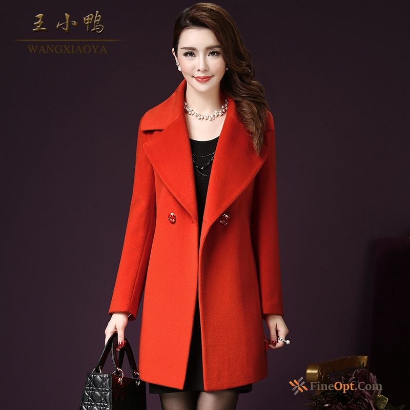 Cheap Slim Fashion Thin Woolen Coat Temperament Large Size Coat