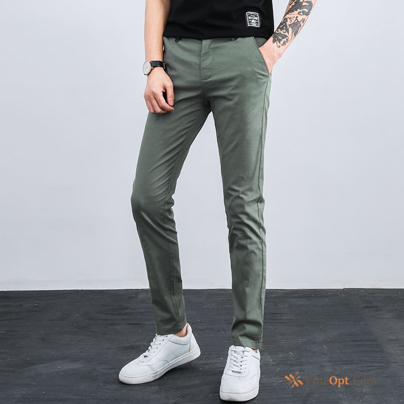 Cheap Summer Men's Leisure Skinny Europe Straight Cotton Pants