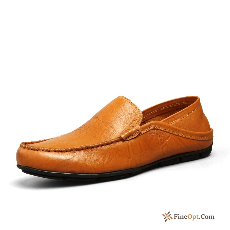 Cheap Summer Spring Leather Shoes Loafers Casual Slip-on Men's