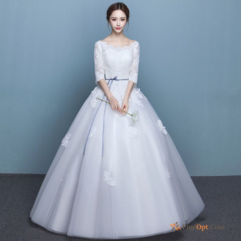 Cheap Thin Bride Spring Marry New Dress Long Sleeves