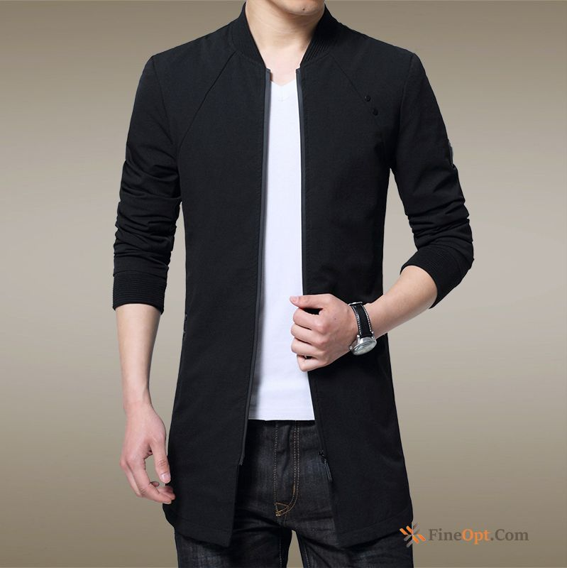 Cheap Trend Coat Student Slim Skinny Overcoat Long Coat