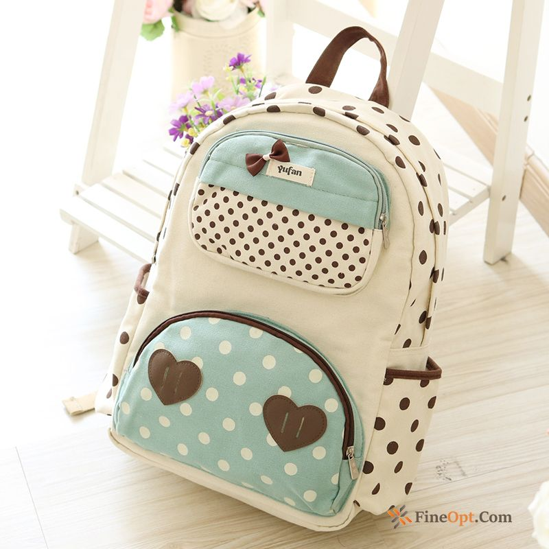 Cheap Trend Women Canvas Lovely Laptop Bag School Bag Student Backpack