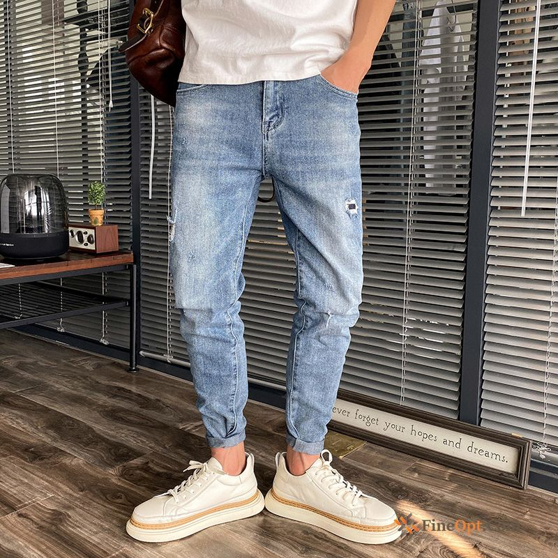 Cheap Trousers Trend Brand Summer Jeans Skinny Slim Europe