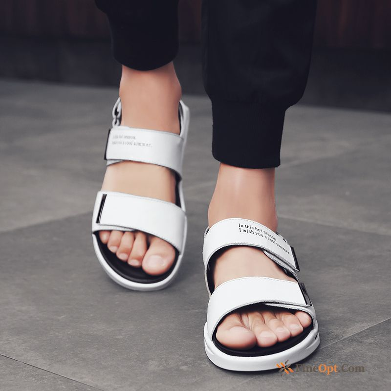 Cheap White Black Fashion New Summer Trend All-match Sandals