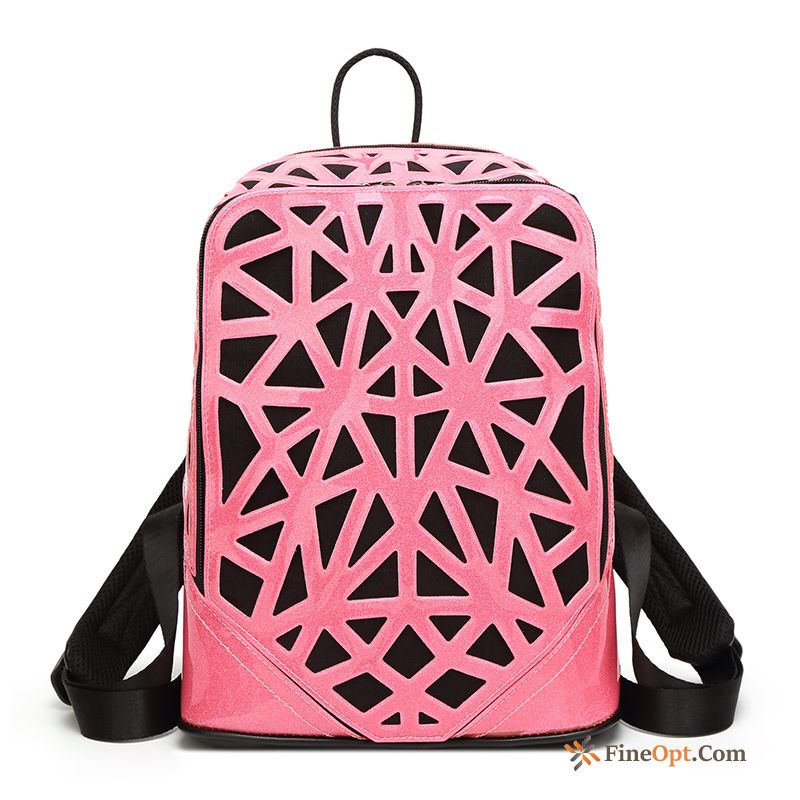 Cheap Women New Hollow Spring Rhombus Red Summer Nude Backpack