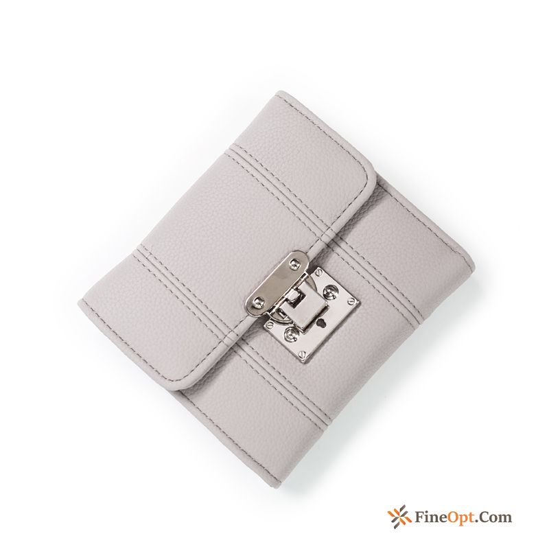 Cheap Women Wallets Short Paragraph Fashion New Wallet Simple Grey Violet