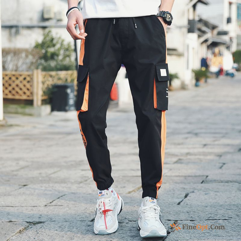 Cheap Youth Cargo Spring Pants Leisure Black Skinny Cargo Pants