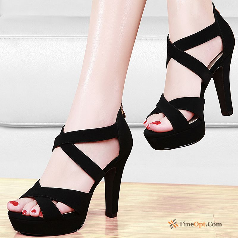 Cheap Zipper Thick Sandals All-match Summer Spring Waterproof Platform Pumps