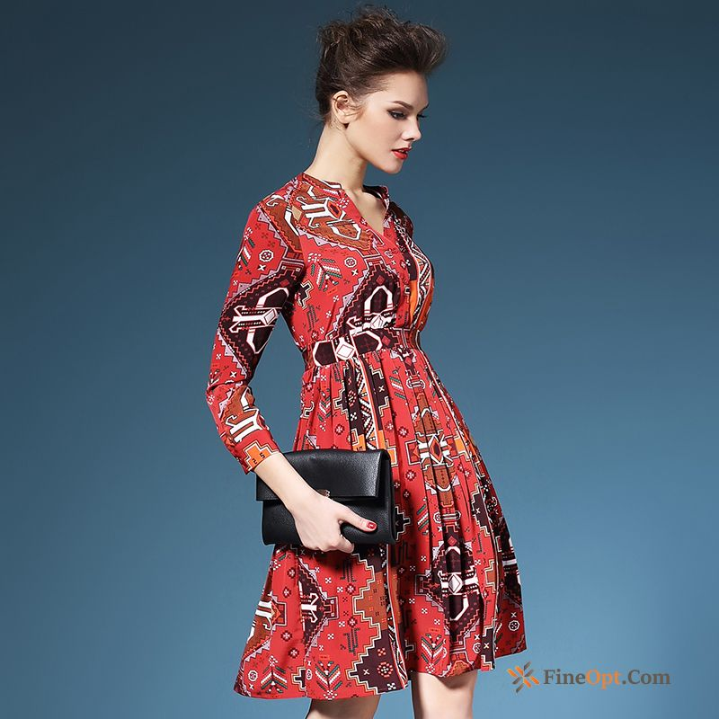 Chiffon A Letter Floral New Spring Autumn Flower Dress