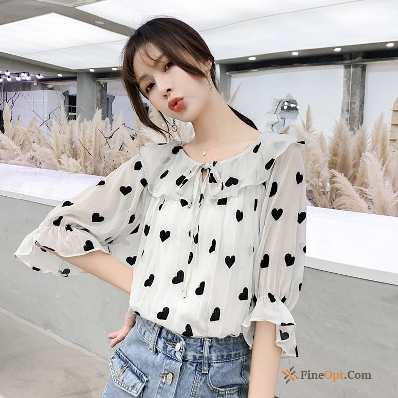 Chiffon New Blouse Love Summer Temperament Coat Blouse & Tops