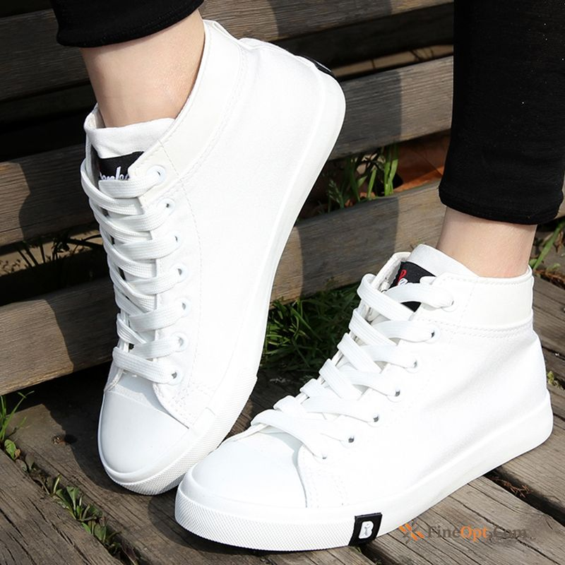 Cloth Shoes White Student Trend Breathable Casual Flat Running Shoes