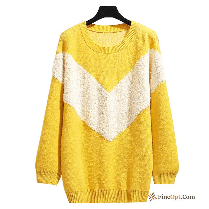Coat Autumn Loose Knitwear Sweater New Skinny Sweater Iris