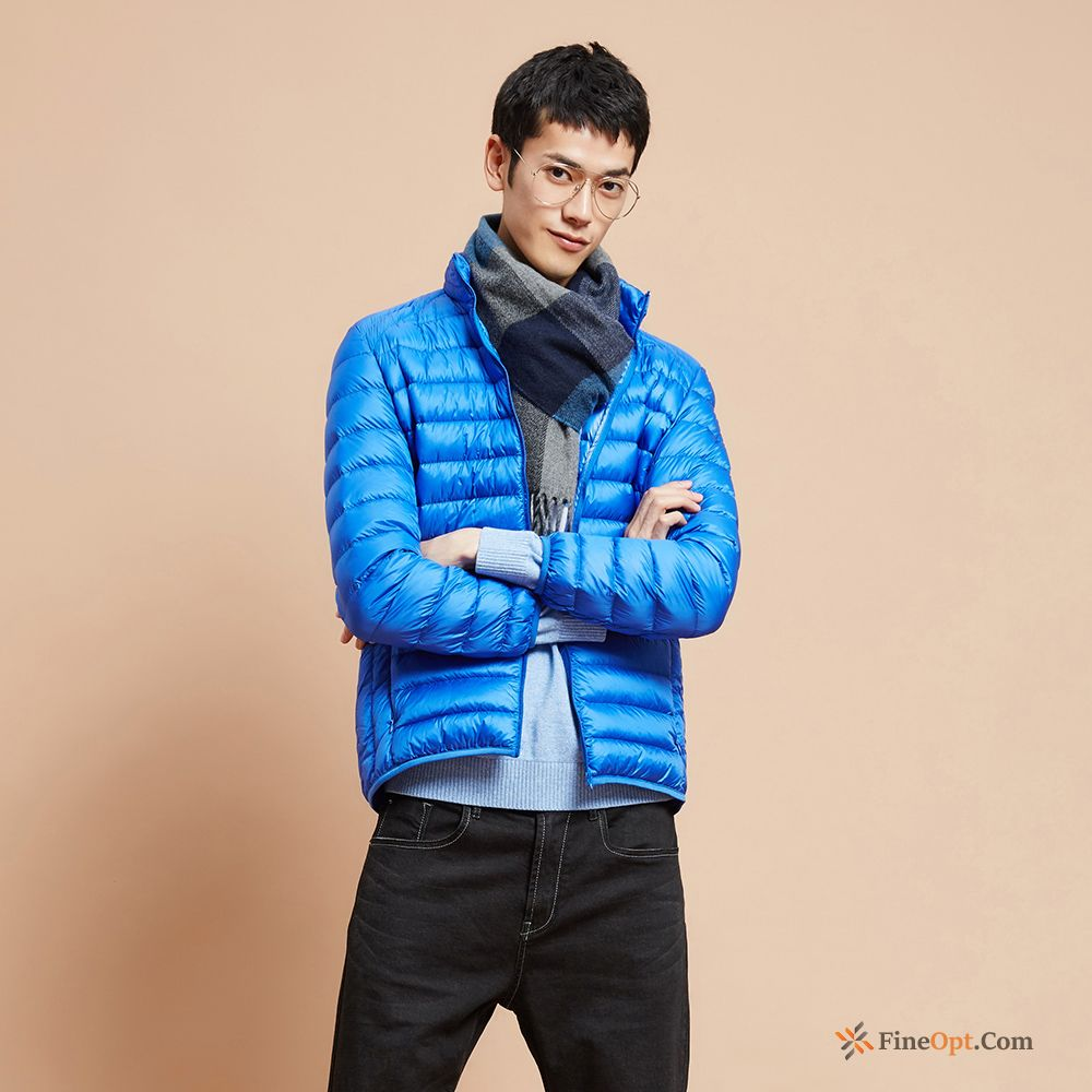 Coat Europe Short Men's Pure Stand Collar Youth Down Jacket Online