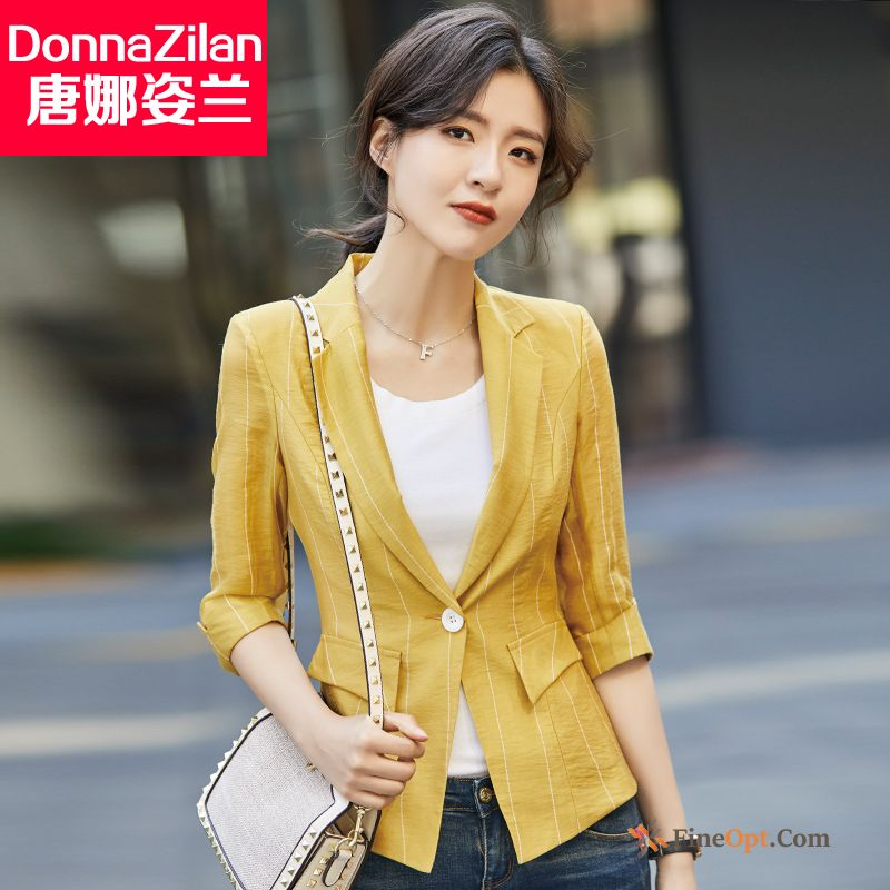 Coat Fashion Suit Spring Short Stripes Leisure Blazer Discount