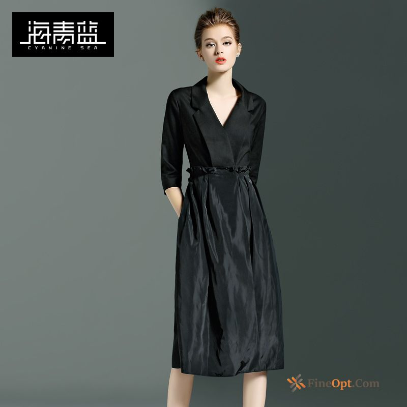 Coat Half Sleeve New Long Blue Fashion Splicing Coat Sale
