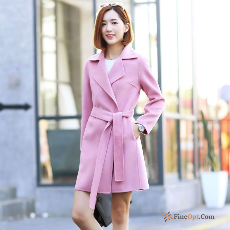 Coat Lady Winter Sided Slim New Long Coat Online