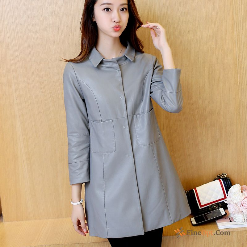 Coat Pu Sleeve Spring Long New Autumn Jacket For Sale