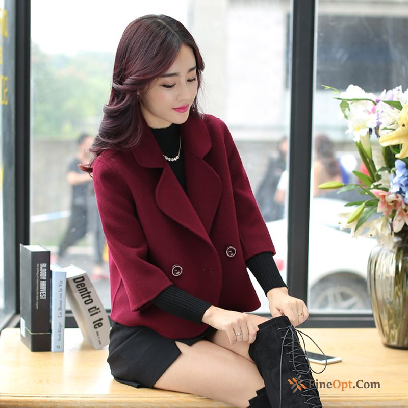 Coat Slim Double Breasted New Autumn Lapel Short Coat Online